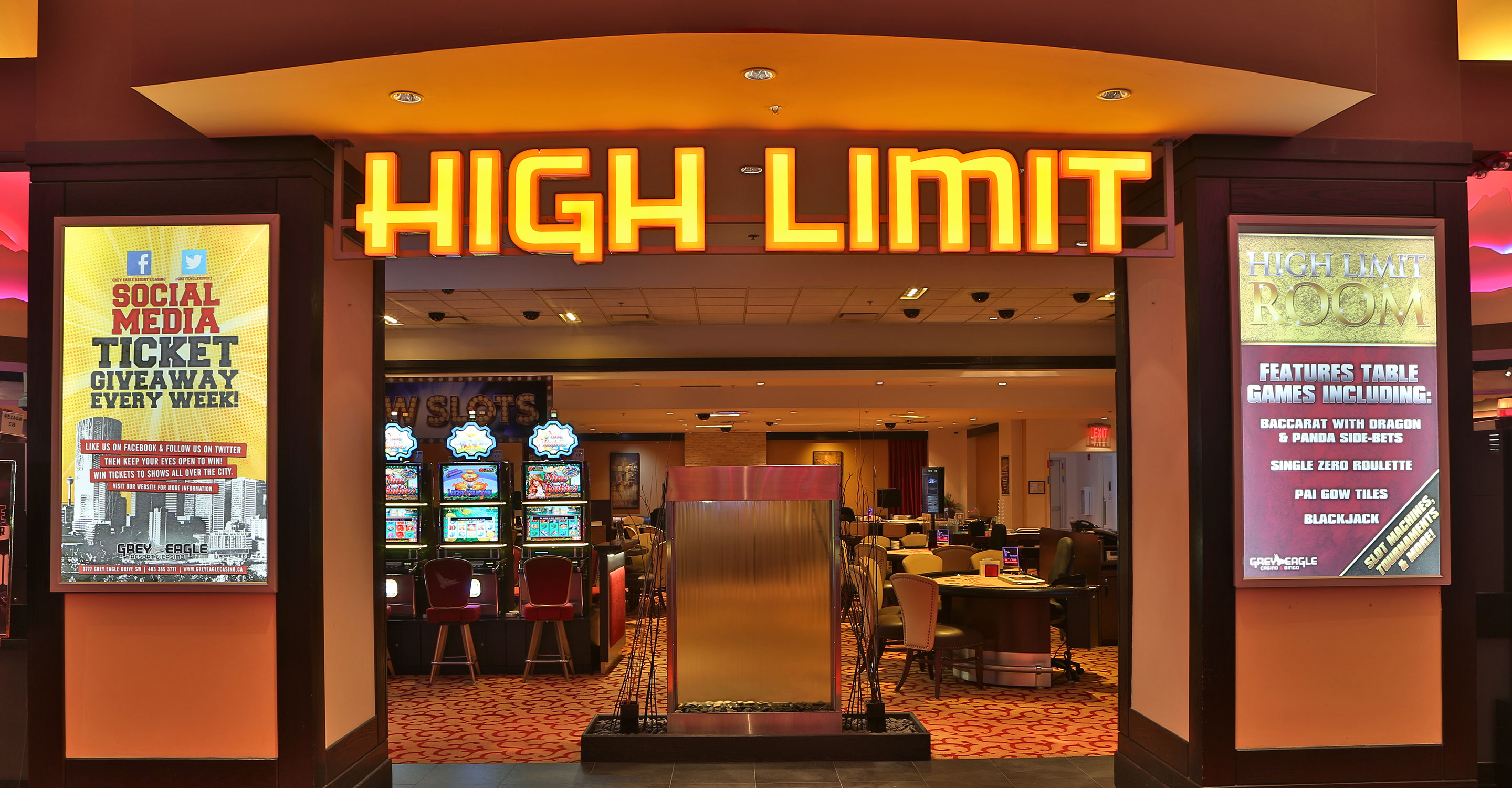 High Limit Tables & Slot Machines
